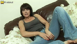 Hot British MILF masturbate alone