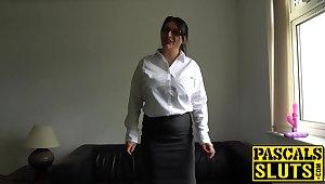 Big shaggy tits Sabrina Jade using sex toy for pleasure