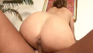 Crazy pornstar Rebecca Bardoux in amazing blowjob, brunette sex scene