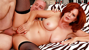 Frying Mature Redhead Andi James Gets Strongly Drilled