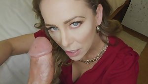 Cherie Deville gets creampied and up to the eyes big penis