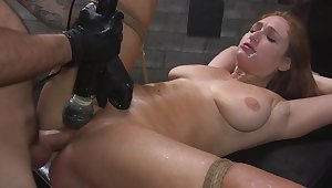 Skylar Fair game is bound with cable space fully her pussy is over-stimulated