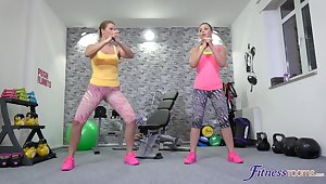 Home gym in she best place for Selvaggia to have a go sex with her lover