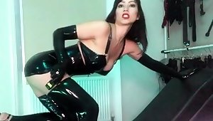 Busty Blondes in Latex Having Solo Distraction