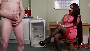 Rara Curves enjoys watching her attachment stroke his pecker
