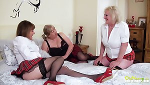 Three extremely horny mature lesbians captured for ages c in depth pussy licking with an increment of playing with sex toys