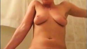 Milf bathroom standing obstreperous orgasm
