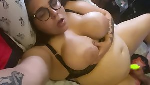 Oiled Fat Pussy Fucked Near Big Toy