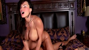 MILF King in Red Lingerie Lisa Ann enjoys big cock in erotic hardcore with cumshot