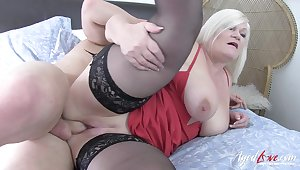 Sexy seducer came to enjoy hardcore fuck thither horny grown up lady thither jumbo unassuming breasts