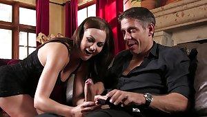 Tina Kay handles man's dick like a unambiguous deity