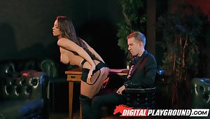 After dreadfully wild blowjob domineer MILF is fucked missionary of course hard