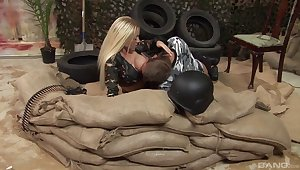 Cindy Behr taking long dick doggystyle in ffm porn