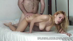 Spanish Sonia Manrique Pilladas Blonde Babe With Natural Titties Screwed By Older Chubby Coxcomb