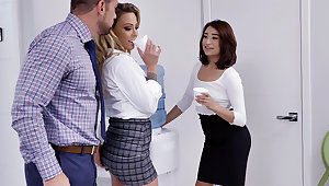 Chief have 3 way intercourse with assistants